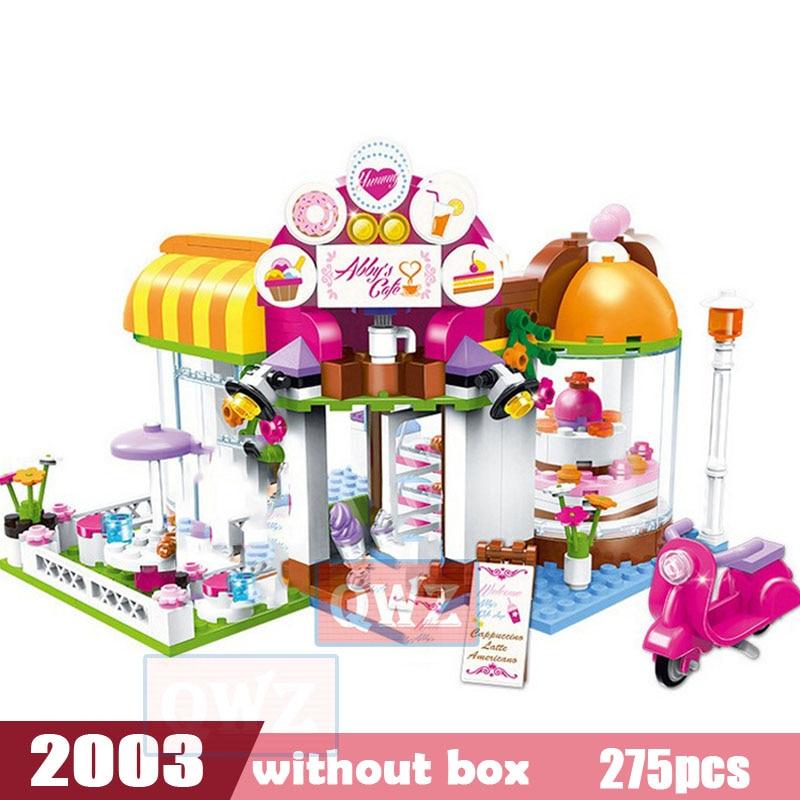 Legoes город девушка друзья большой сад вилла модель строительные блоки кирпич техника Playmobil игрушки для детей Подарки - Цвет: 2003 without box