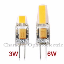 1PCS NEW Arrival 12V AC/DC COB G4 LED Bulb 3W 6W COB LED G4 Lamp Light for Crystal Chandelier G4 LED Lights Lamps Dimmable  цена 2017