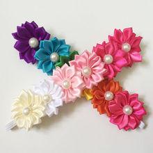 Trendy Colorful Headband Flower Pearl Headwear Hair Head Bands Hairbands Accessories