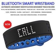 Bluetooth חכם צמיד כושר פעילות Tracker עמיד למים סיליקון חכם צמיד Led תצוגת ספורט שעון עבור אנדרואיד IOS
