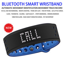 Bluetooth Смарт Браслет фитнес трекер Водонепроницаемый силиконовый Смарт браслет светодиодный дисплей спортивные часы для Android IOS