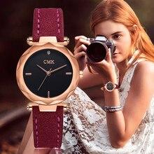 4191bc83d35d Las mujeres de la marca superior de cuero de lujo relojes de moda de oro  rosa vestido reloj de pulsera de cuarzo 3D Dial diseño .