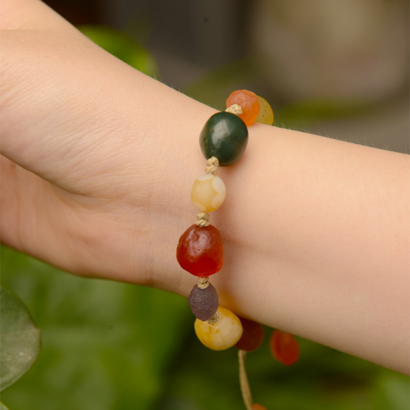 2019 new natural jewelry Fashion Vintage simple Men and women bracelet handmade Couple bracelet National wind gift in Strand Bracelets from Jewelry Accessories