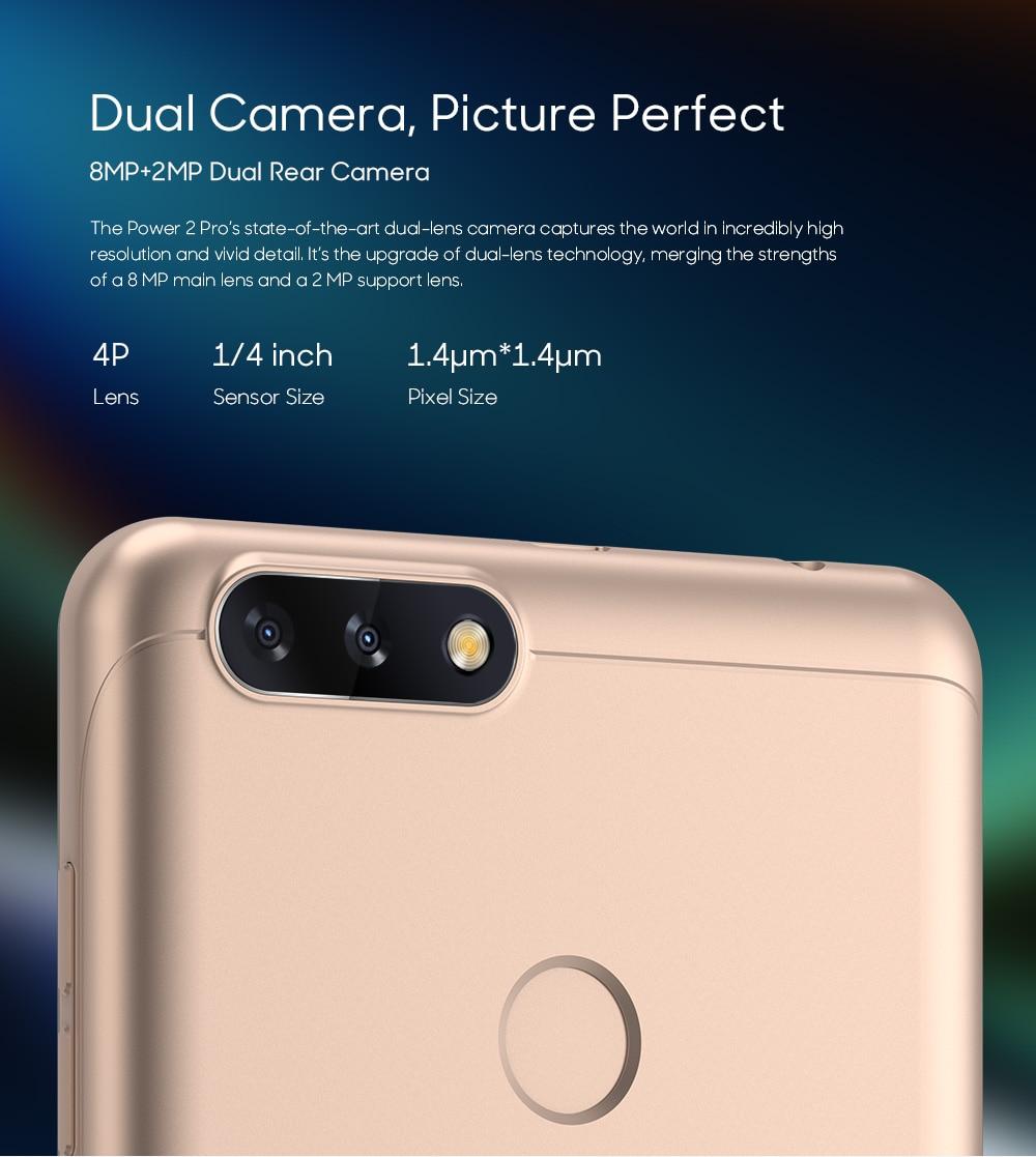 LEAGOO POWER 2 PRO 4000mAh Face ID Fingerprint Smartphone 2GB+16GB Dual Camera Android 8.1 Quad Core 5.2' HD 4G Mobile Phone (5)