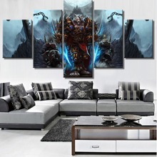 Framed 5 Piece Canvas Art Warcraft Wolf Game Modern Decorative Paintings on Canvas Wall Art for Home Decorations Wall Decor wall art wolf howl print canvas paintings