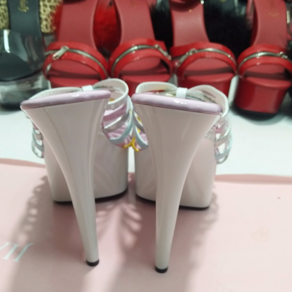 Atractivos De Las 15 Cabeza Zapatos Stilettos Moda Pies Talón Rosado Sandalias Redonda Cm Mujeres fwfBq1S
