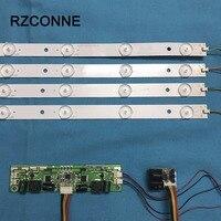 630mm LED Backlight Lamps kit Aluminum Board w/ Optical Lens Fliter for 32inch TV Monitor Panel 4pcs LED strips + driver board