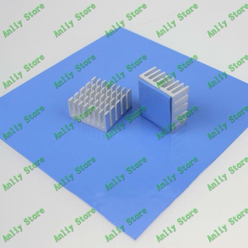 1 piece Blue 100mm x 100mm x 1mm GPU CPU VGA Conductive Silicone Thermal Pad single sided blue ccs foam pad by presta