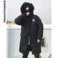 Privathinker Men Winter Jackets Coats 2018 Mens Wool Japanese Streetwear Long Coats Male Casual Warm Windbreaker Thick Parkas