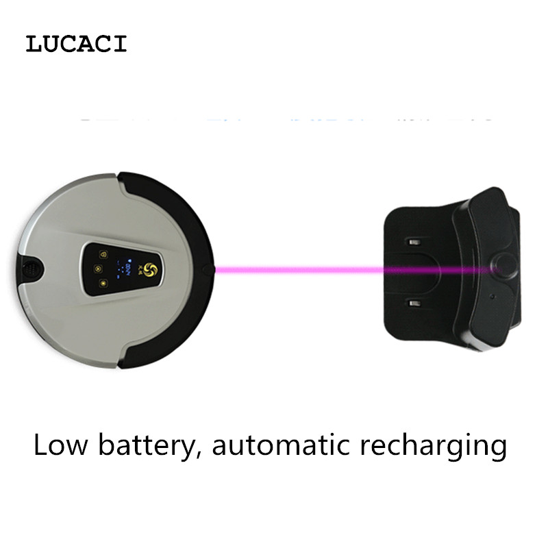 LUCACI Smartphone Robot Vacuum Cleaner House Cleaning Machine Robotic Sweeper With Built-in HD Camera APP Remote Control liectroux x5s robotic vacuum cleaner wifi app control gyroscope navigation switchable water tank