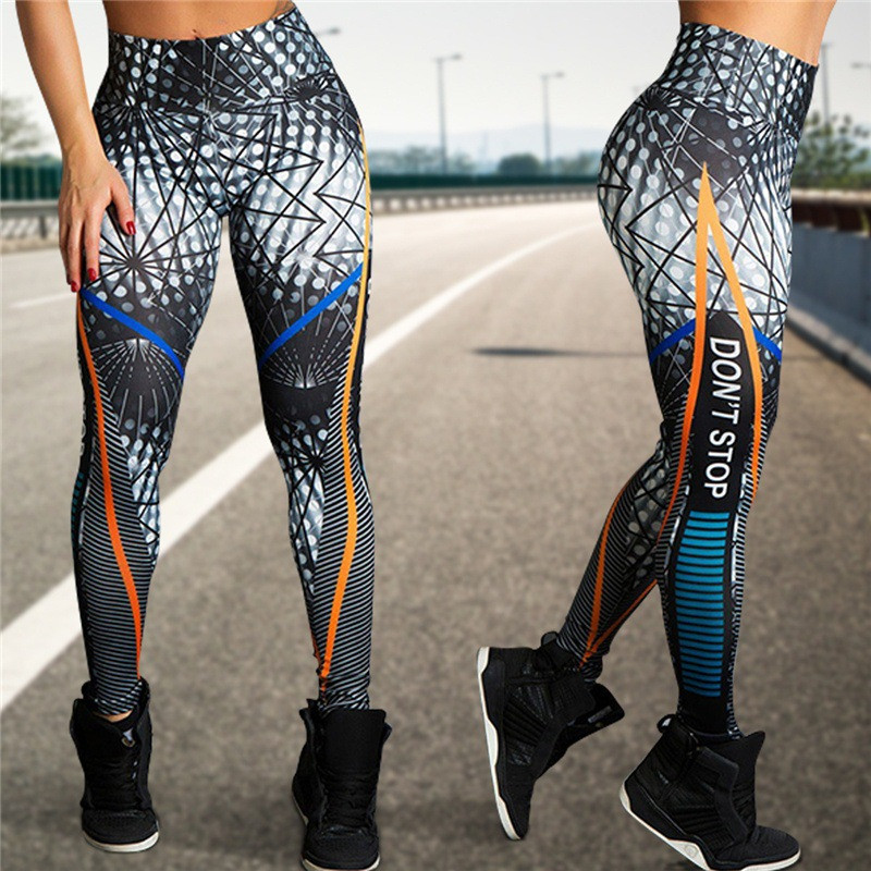 Women Running Leggings Sports Clothes 2018 Fitness GYM Tights Pants Floral Printed Workout Sportswear Seamless Sport Legging