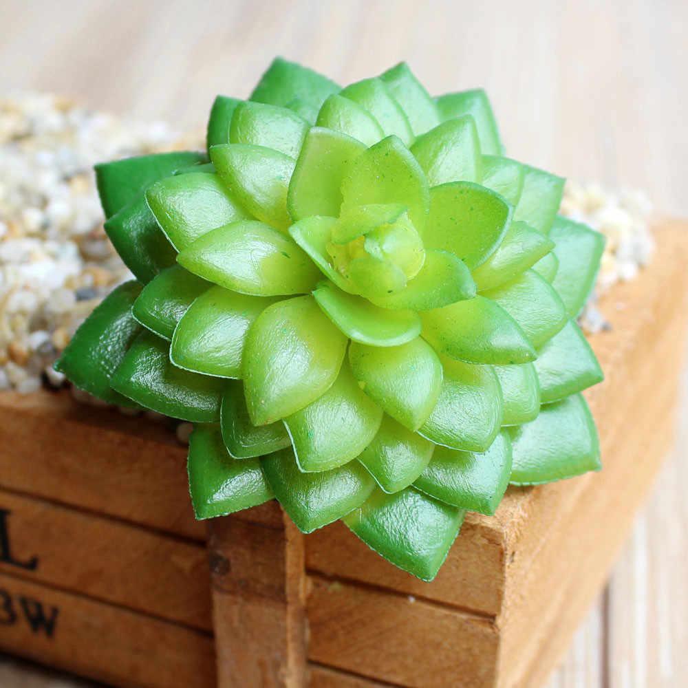 Mini plantes succulentes plastique feuilles d'automne artificielles flores bricolage suculentas artificiais maison bureau table décoration fausses fleurs