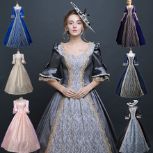 Women Retro Medieval Renaissance Victorian Dresses Princess Ball Gowns  Dresses Masquerade Costumes For Halloween costumes( c2292709aa6c