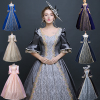 Women Retro Medieval Renaissance Victorian Dresses Princess Ball Gowns Dresses Masquerade Costumes For Halloween costumes