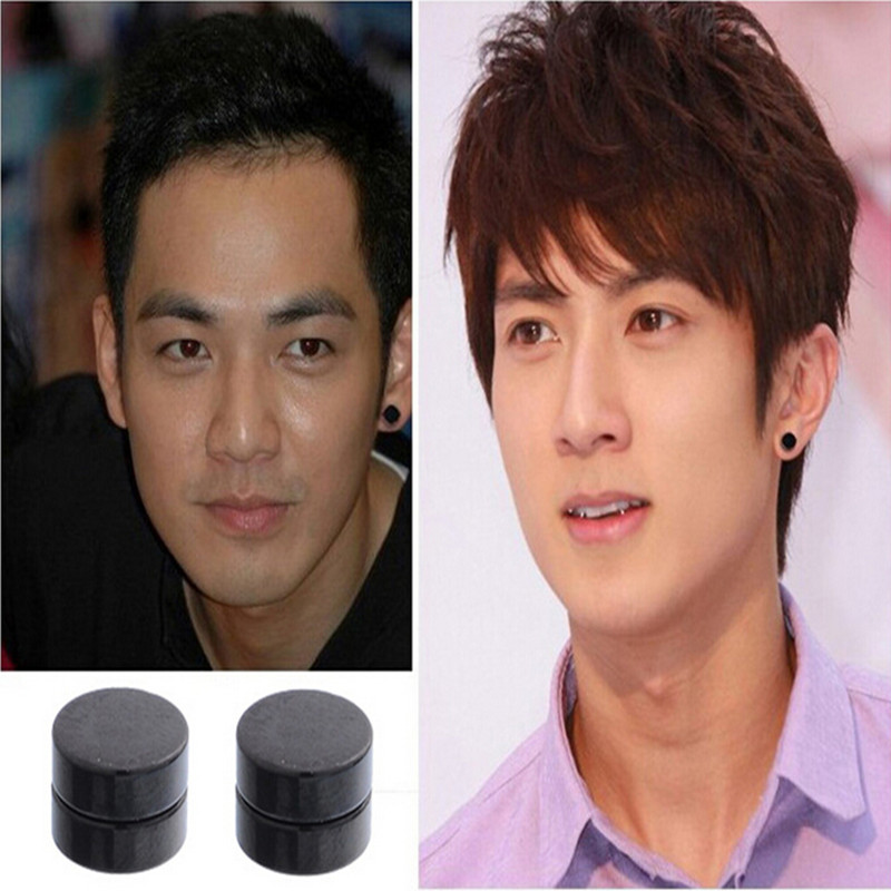 1pair Men Magnet Stud Earrings Non Piercing Clip On Round Earring Black Magnetic For Mens Women Er936 In From Jewelry Accessories