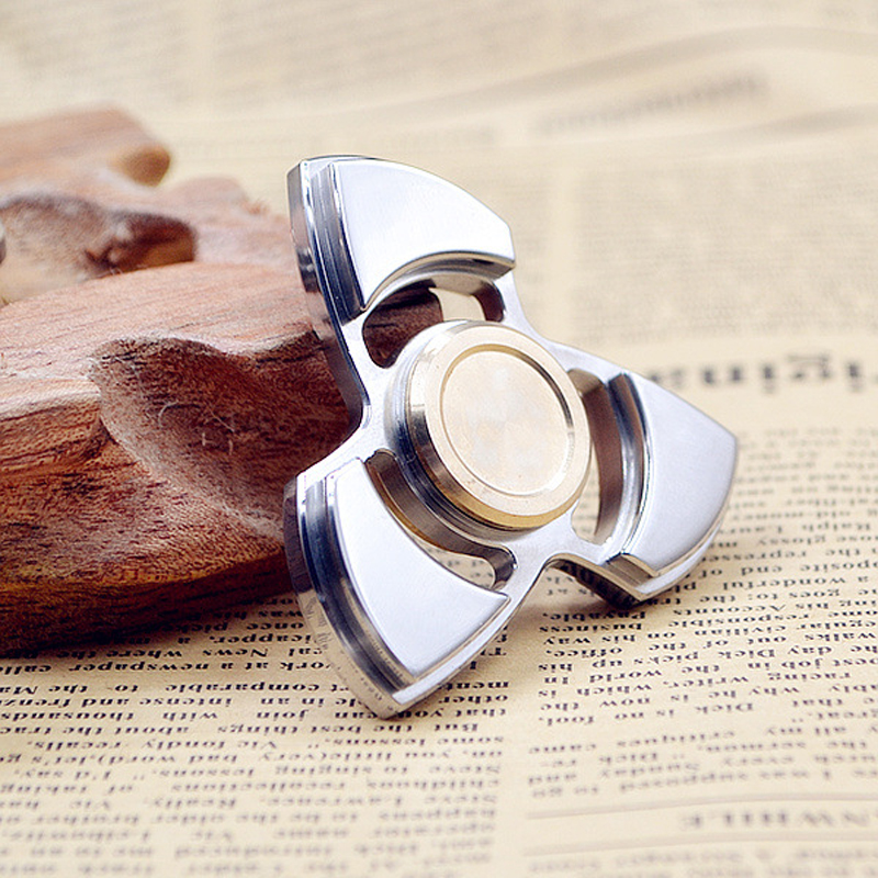 Good Quality Stainless Steel/Copper Hand Spinner 2017 New Tri-spinner For Autism and ADHD Kid Gift Funny Finger Toys Fidget