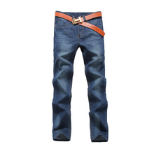 Men Slim Straight Denim Jeans Pants Spring And Autumn High Quality Trousers Male Fashion Casual Mens Jeans