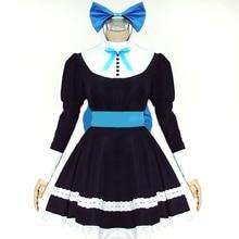 Cosplay Panty & Stocking With Garterbelt Long-Sleeved Women's Dress Meidofuku Apron Dress Maid Costume цена