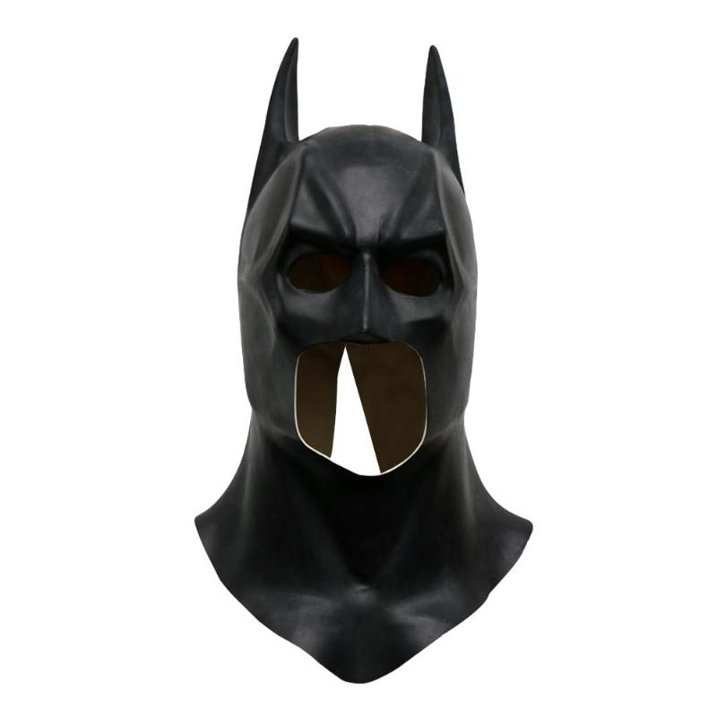 New Halloween Full Face Latex Batman Mask Costume Superhero The Dark Knight Rises Movie Party Masks Carnival DC Cosplay Props