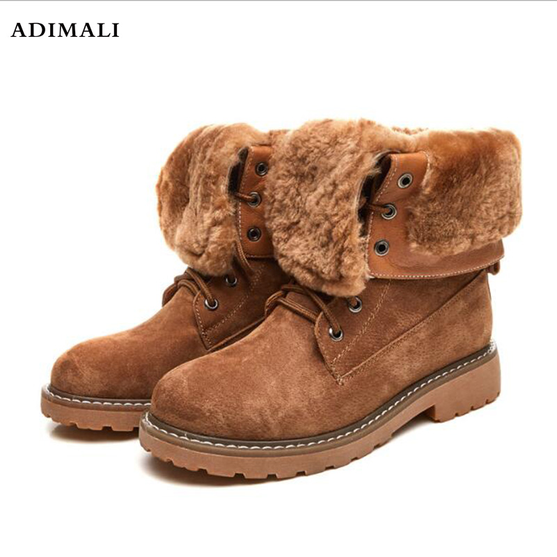 New Women martin boots suede autumn winter warm plush fur shoes woman feminina female motorcycle ankle boots women botas mujer vtota ankle boots for women 2017 autumn boots heel shoes woman plataforma bota feminina women winter martin boots botas mujer d5