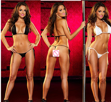 New Hot temptation sexy lingerie hot lace transparent gauze Open Chest Bra three-point sexy underwear bikini+T-pant set