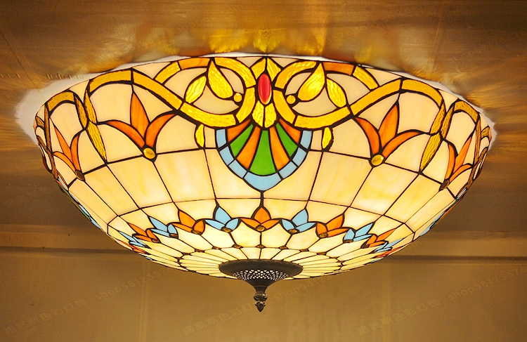 Antieke Tiffany Lampen : Gratis levering barokke cm grote antieke glazen plafond
