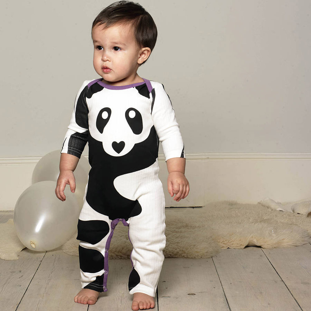 Fashion Newborn Infant Baby Boys Girls Panda Print Romper Jumpsuit Outfits Clothes baby girl boy