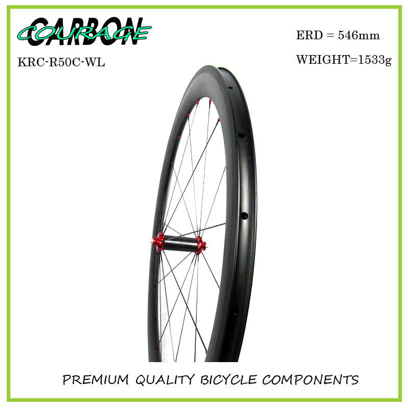 2016 carbon wheel 50mm carbon clincher wheelset fixed gear wheel with r36 hub carbon wheels light 50mm new design carbon wheel titanium material light and more safe 50mm clincher 700c