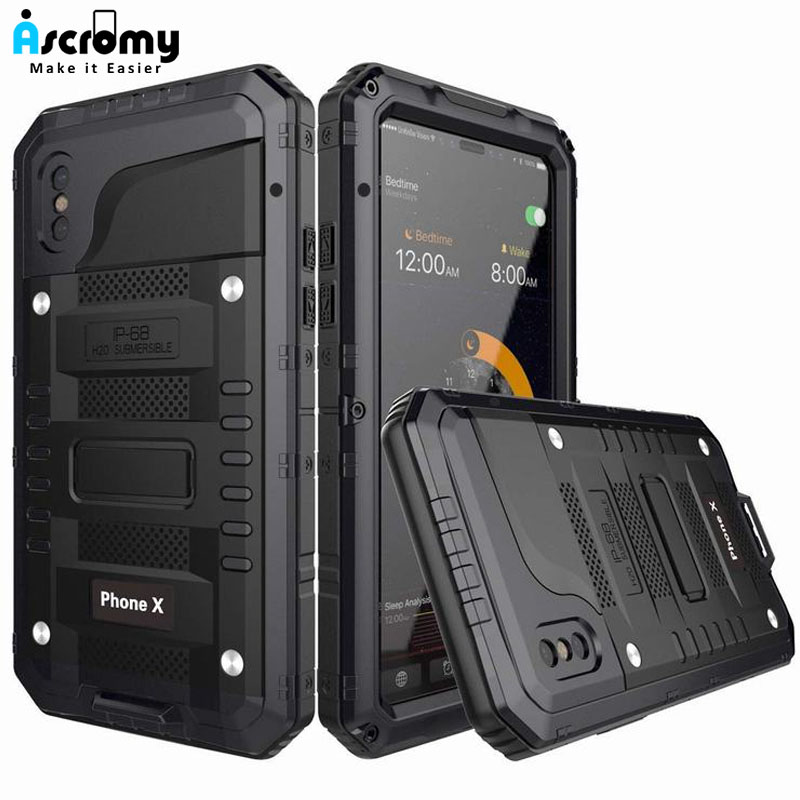 Ascromy-For-iPhone-X-Case-Heavy-Duty-Rugged-Armor-Defender-Cover-For-iPhone-X-10-8-7-6-6S-Plus-IP68-Waterproof-Shockproof-Coque (10)
