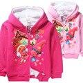 girls Winter hooded sweater Plus velvet double long-sleeved thicker coat Children's girl top kids warm coat baby clothing