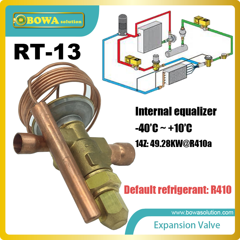 RT-13 expansion valve is used in the systems of higher capacities While the capillary tube is used in the small domestic systems 7 8 plunger check valve with extension tube can be used in commercial refrigeration system domestic and industrial chiller