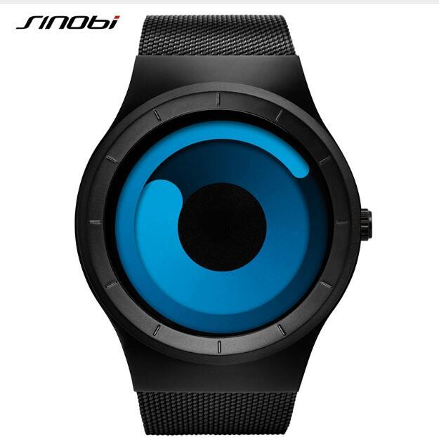 SINOBI Brand Fashion Lovers' Watch Men Watches Women Watches Full Steel Cool Watch Clock Unisex saat reloj mujer reloj hombre