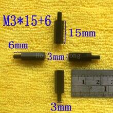 1Pcs M3*15+6 Black Nylon Standoff Spacer Standard M3 Male-Female 5mm Kit Repair Set High Quality