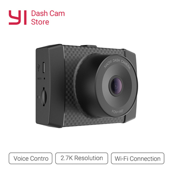 Yi Ultra Dash Camera dengan 16G Kartu 2.7 K Mobil DVR A17 A7 Dual Core Chip Kontrol Suara sensor Cahaya 2.7-Inci Widescreen