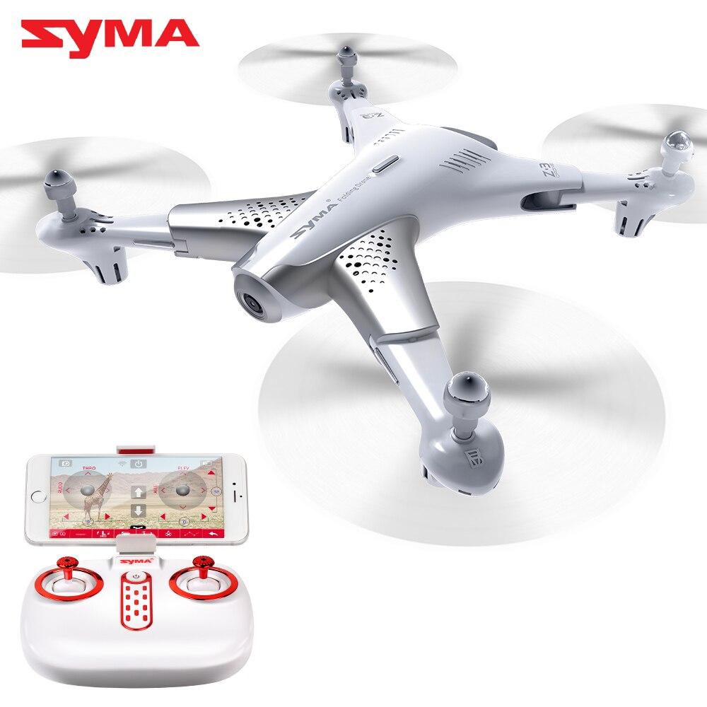2018 Nouvelle Arrivée Z3 SYMA Officielles Quadrocopter Avec HD Caméra 720 p Vidéo Drone Drones Avec en temps Réel Transmettre FPV Pliable Dron