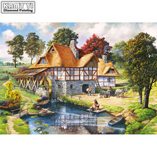 River and Village Diamond painting