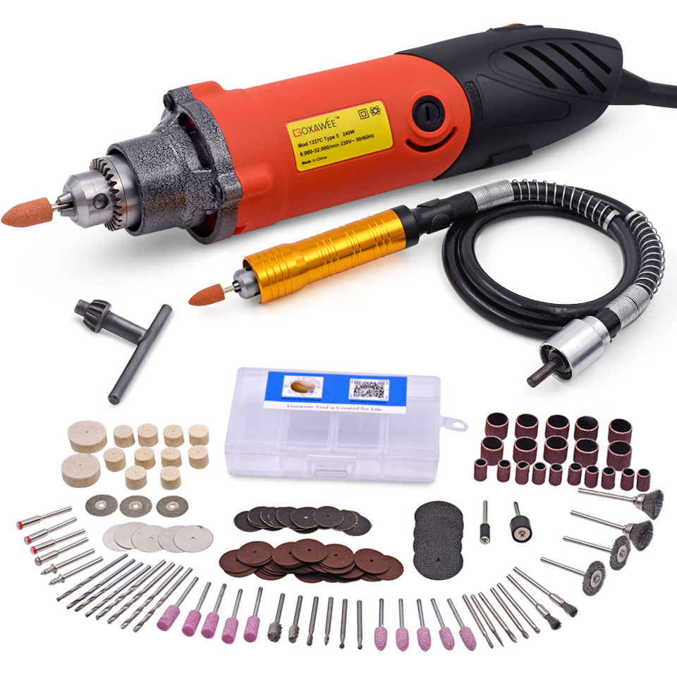 240W Electric Drill For Dremel Tools Accessories Mini Drill Grinder for 6mm Shank Rotary Tools Power Tools Accessories 110 230v mini grinder electric dremel drill engraver regulating speed grinding machine for milling polishing dremel accessories