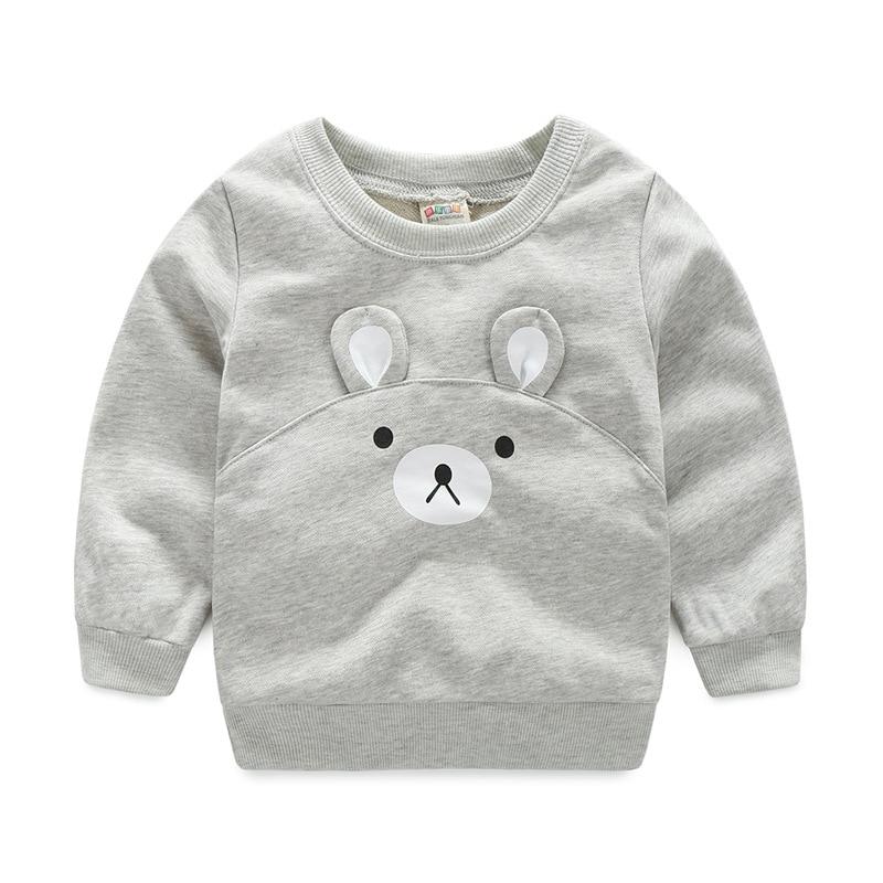 2761903ba12037 2017 nowa Wiosna jesień dzieci T-shirt 3D cartoon niedźwiedź topy Chłopcy  dziewczęta czystej bawełny bluzy odzież Dla Dzieci dzieci pure color