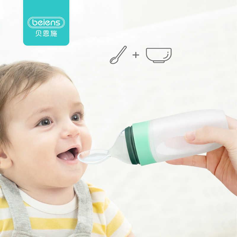 Beiens เด็กขวด 90ml ช้อนสำหรับทารกเด็กวัยหัดเดินอาหารนมยาอาหารเสริมขวดนมบีบ Feeder