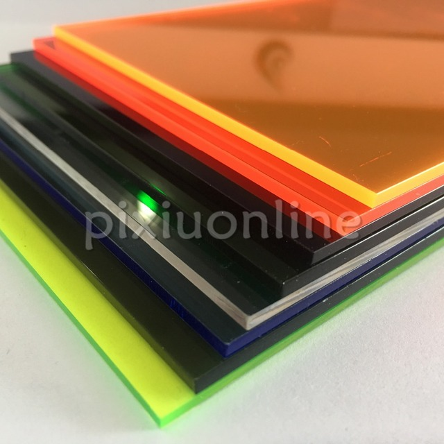 1pc J351 8 Different Colors Choose Acrylic Board 10*20cm Perspex ...