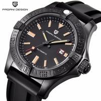 PAGANI DESIGN Mechanical Watch Men Automatic Business Silicone Rubber Strap Wist Watch Male Clock Relogio Masculino