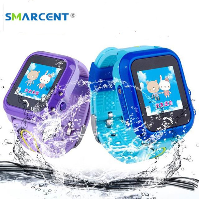ebcad2f343b Smarcent IP67 DF27 GPS À Prova D  Água Crianças Relógio Inteligente  Smartwatch relógio de Pulso Pulso Pedômetro Rastreador SOS Phone Call Bebê  Seguro