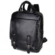 купить Fashion School Bag For Men Laptop Backpack Leather Book Bag For Teenagers Sports Casual Daypacks Backpack Running Rucksack по цене 2408.86 рублей