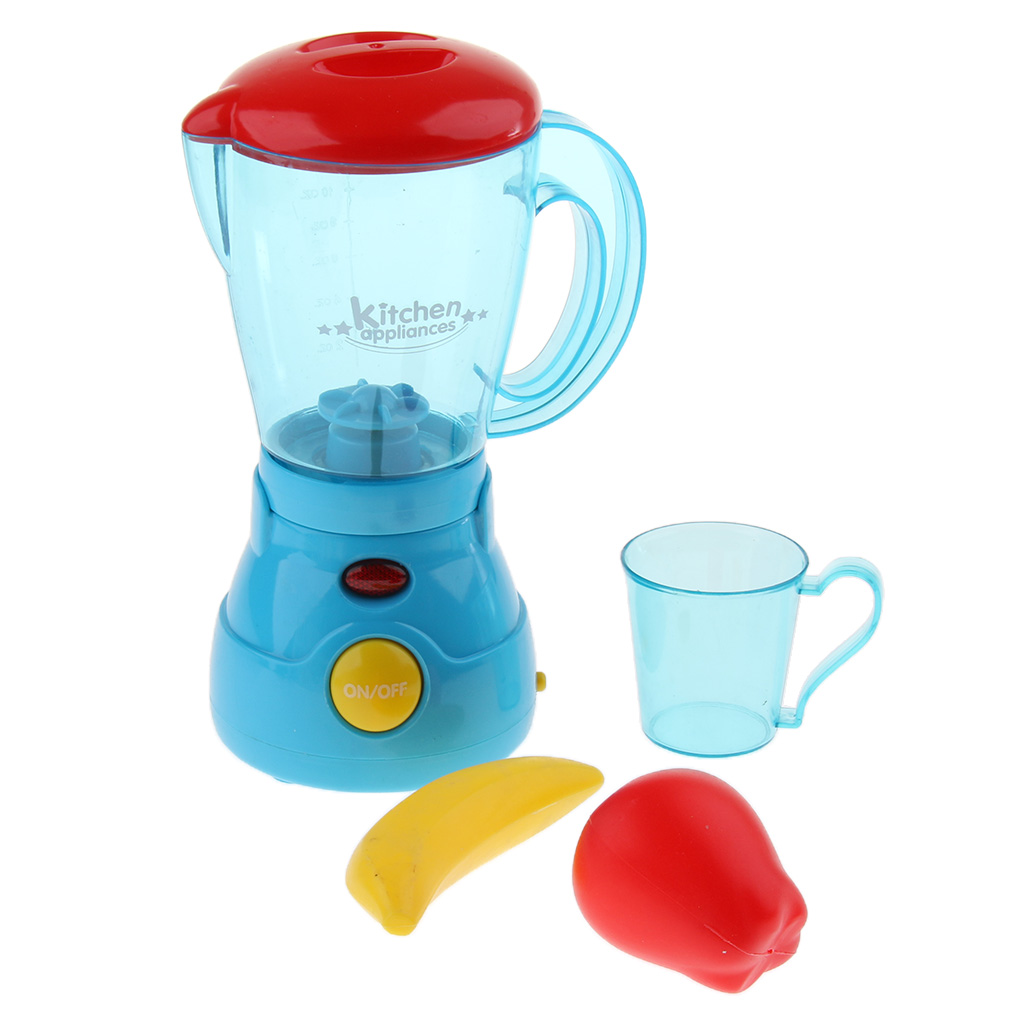 2pcs Play Kitchen Appliances Accessories Blender & Juicer Imaginative Play Toys