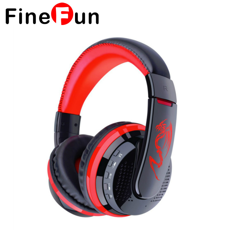 FineFun MX666 Wireless Stereo Bluetooth Headphone Headset Foldable FM/SD Card Headset For PC Laptop phone MP3 Player smilyou multifunction wireless bluetooth 4 1 stereo headphone sd card