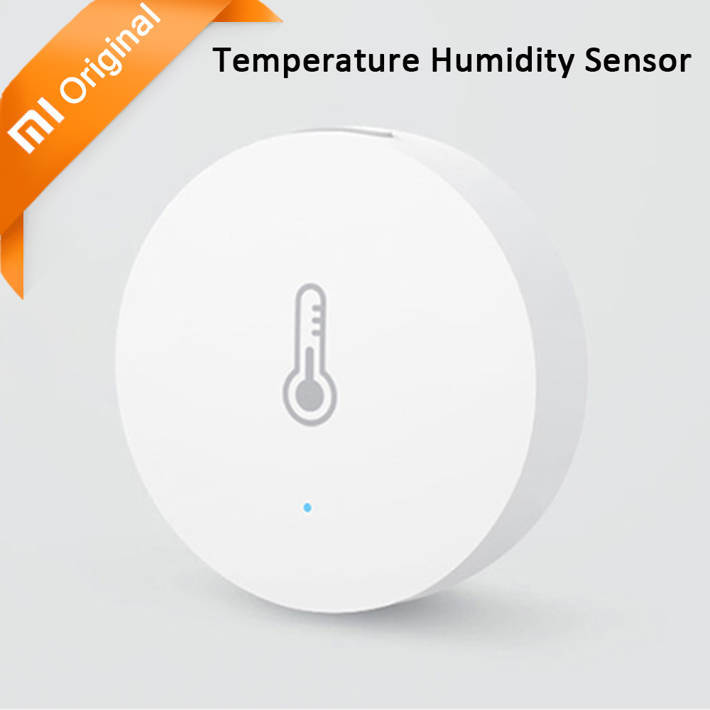 imágenes para Xiaomi Mijia Inteligente Sensor de Humedad de Temperatura de Bolsillo Casa Inteligente Automático para el Hogar Inteligente Modelo de Serie para Android IOS App