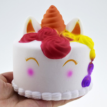1pcs New Soft Cute Unicorn Squishy Cake Slow Rising Food Super Jumbo Kawaii Rainbow Squishy Cake Antistress Toys For Children