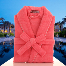 Women bathrobe cotton white towel fleece kimono men s robe pijamas femme bridesmaid robes soft warm