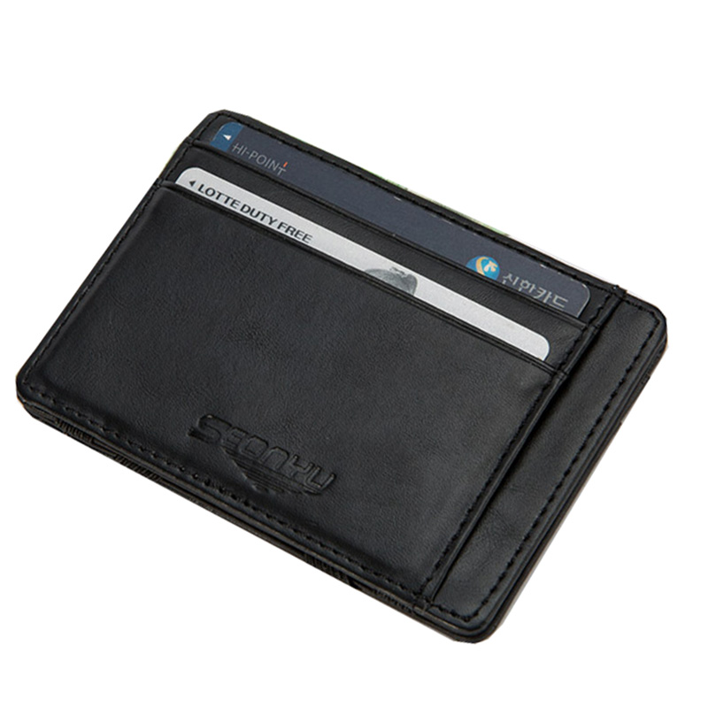 KUDIAN BEAR Leather Wallets Men Magic Wallets Designer Small Purse Rfid Card Holder Carteira Masculina-- BID142 PM10 hot 2016 new designer brand business black leather men wallets short purse card holder fashion carteira masculina couro qb1268