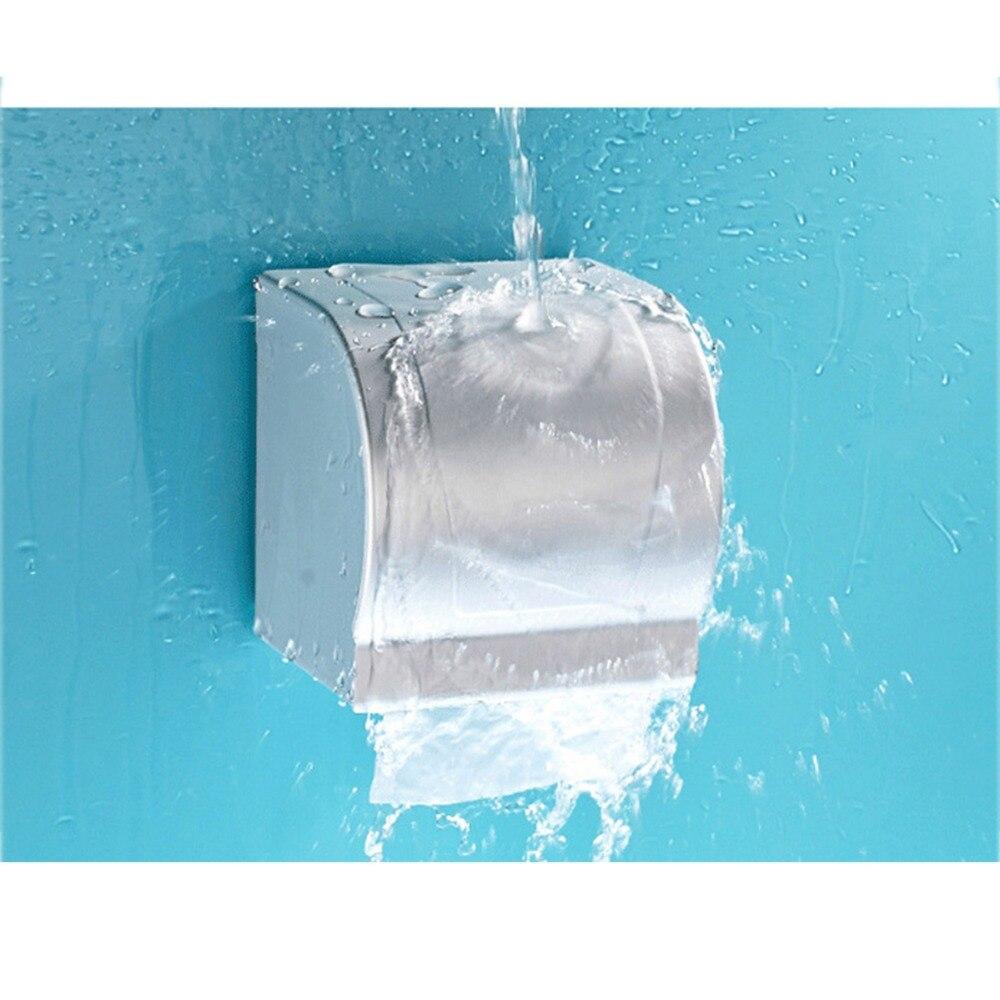 1PCS vízálló alumínium WC-papír tartó tartó tekercses tok - Szervezés és tárolás
